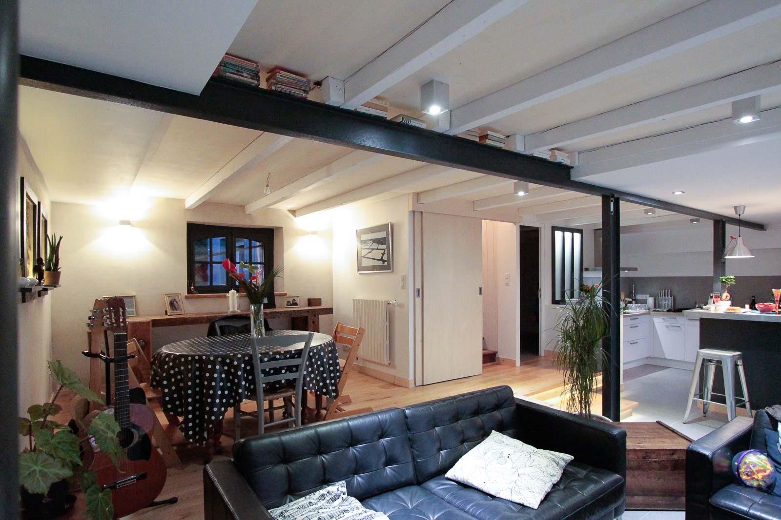 r novation du rdc d 39 une maison architecte d 39 int rieur quimper. Black Bedroom Furniture Sets. Home Design Ideas